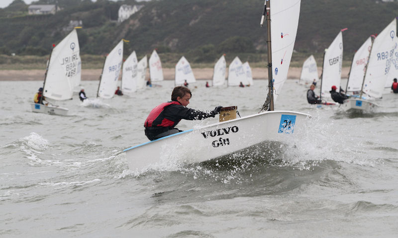 Volvo Gill Optimist British Nationals Regatta Fleet winner Haydn Sewell photo copyright Andy Green taken at Pwllheli Sailing Club and featuring the Optimist class