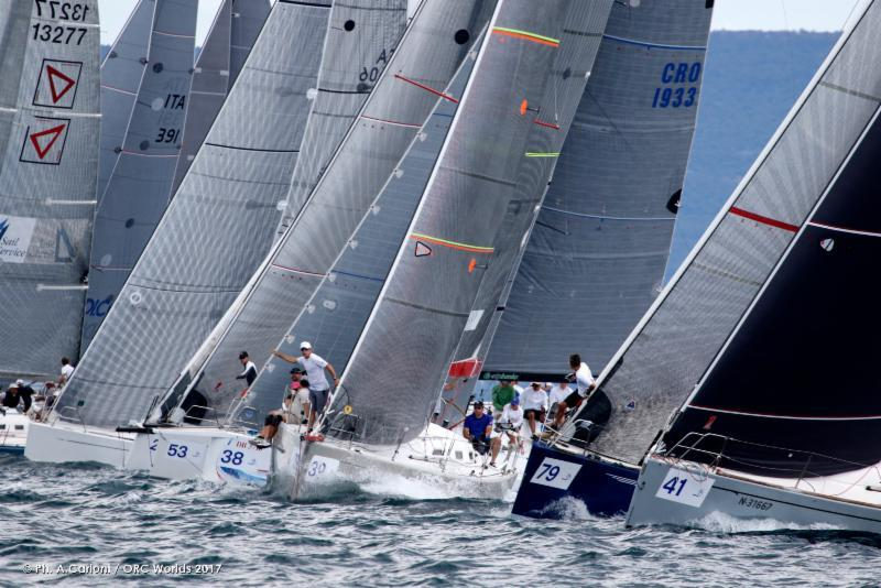 Close start action on the ORC World Championship practice day - photo © Andrea Carloni