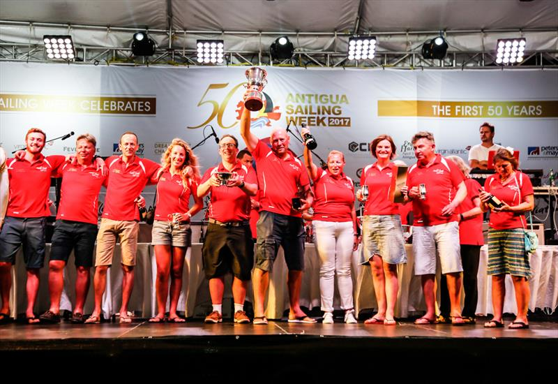 Ross Applebey's Oyster 48, Scarlet Oyster team at the 50th Antigua Sailing Week - photo © Paul Wyeth / www.pwpictures.com