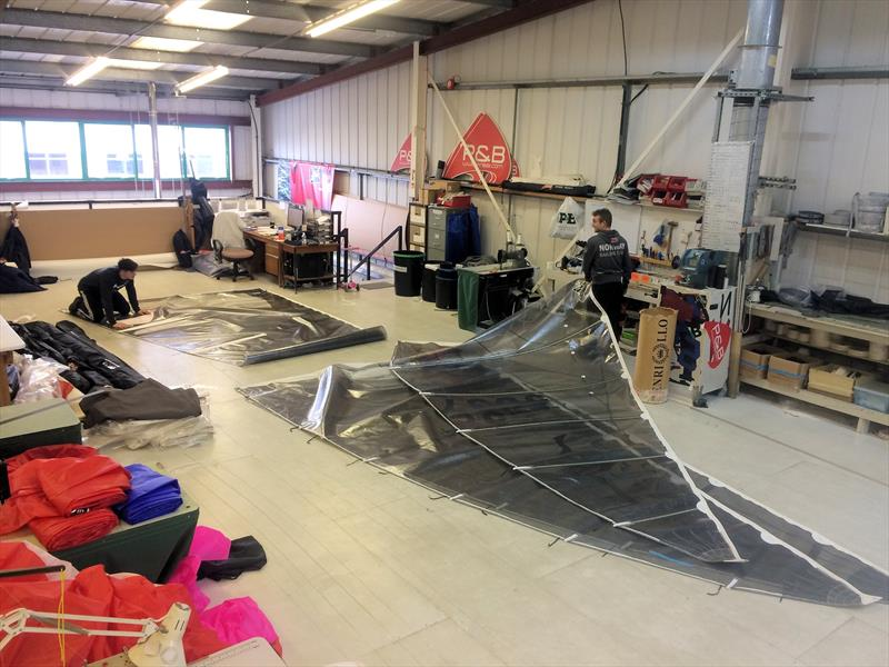 The P&B Team busy getting ready for the RYA Suzuki Dinghy Show - photo © P&B
