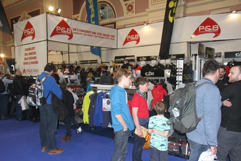P&B Stand at the 2016 RYA Suzuki Dinghy Show - photo © Mark Jardine