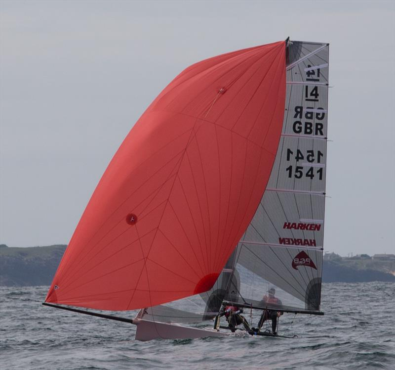 Roger Gilbert & Ben McGrane win the International 14 Prince of Wales Cup - photo © P&B