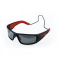 Forward EVO Polarised Sunglasses - Matt black with red grips