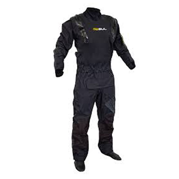 Gul Code Zero Stretch U-Zip Drysuit - Black