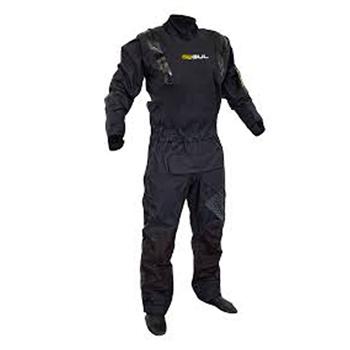 Gul Code Zero Stretch U-Zip Drysuit - Black