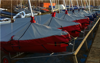 Rain and Sun Overboom Covers for Team Racing Fleets