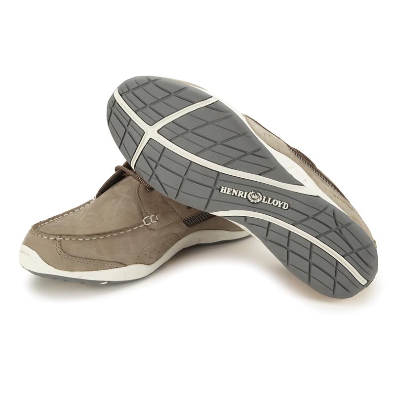 henri lloyd valencia leather deck shoe on