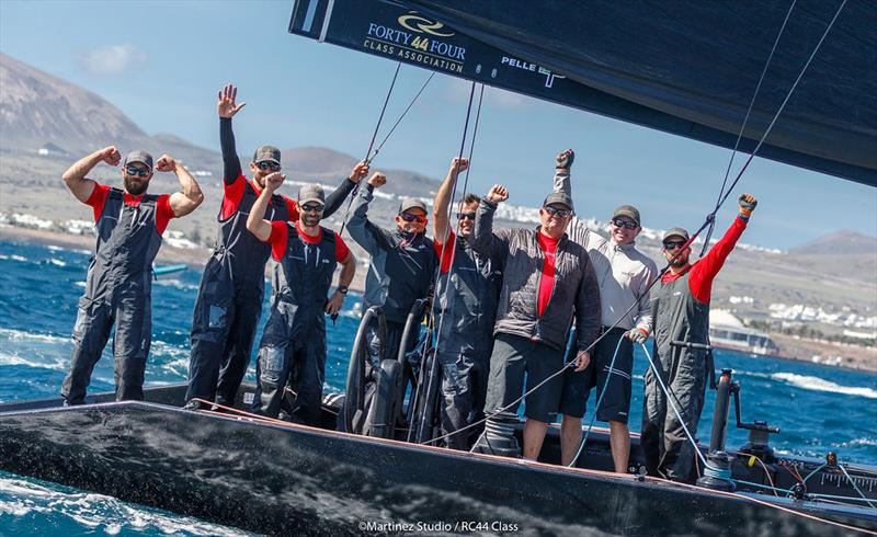 Nico Poons and his victorious Charisma crew - 2018 RC44 ...