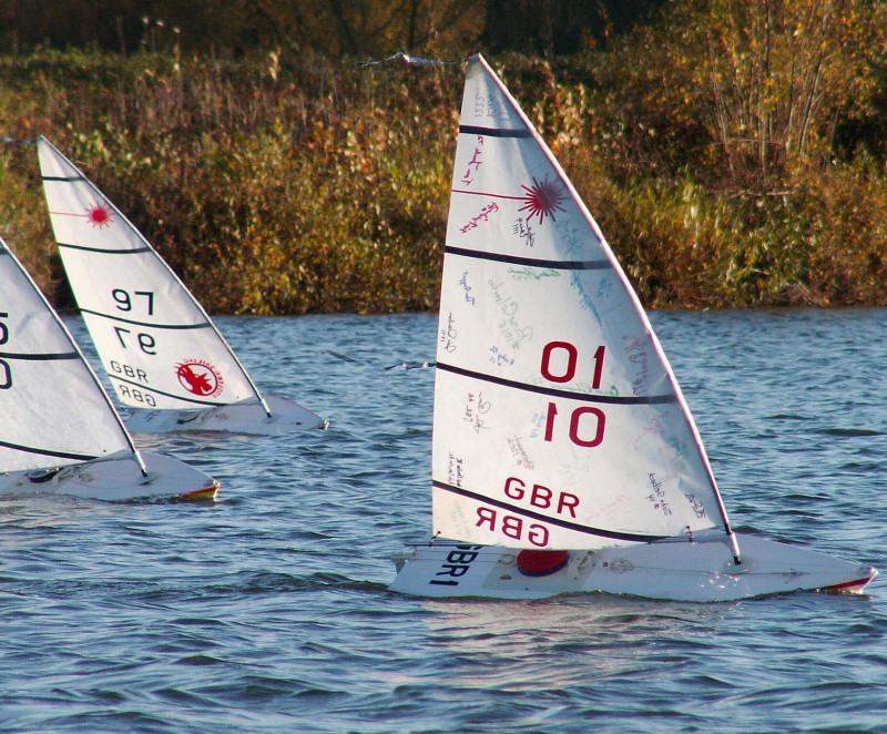 Rc Laser Tt Series Finale At Burghfield Sailing Club
