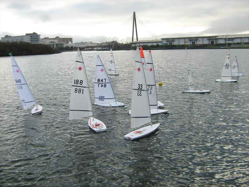 RC Laser and Dragon Force 65 of the New Year's Series day 1 photo copyright Tony Wilson taken at West Lancashire Yacht Club and featuring the RC Laser class