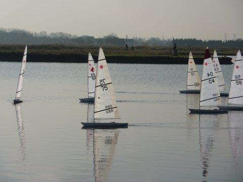 Medway RC Laser Winter Series day 4 photo copyright Jamie Blair taken at Medway Yacht Club and featuring the RC Laser class