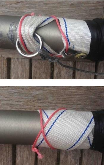 Top 10 Topper Tips: Back up the mast webbing strap - photo © Rooster Sailing