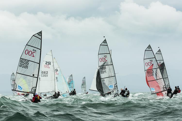 RS200s downwind - photo © RS200 Class Association