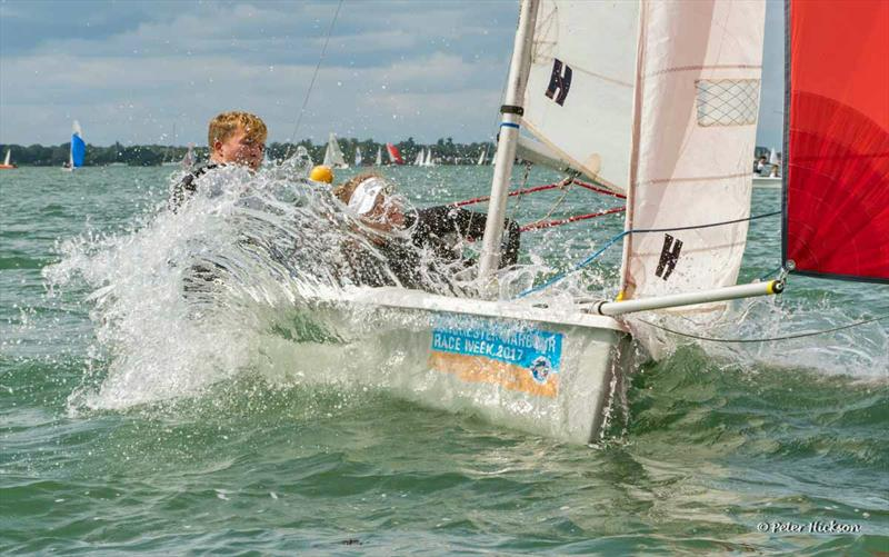 RS200s were the largest (and sometimes wettest) fleet at Chichester Harbour Race Week 2017 - photo © Peter Hickson