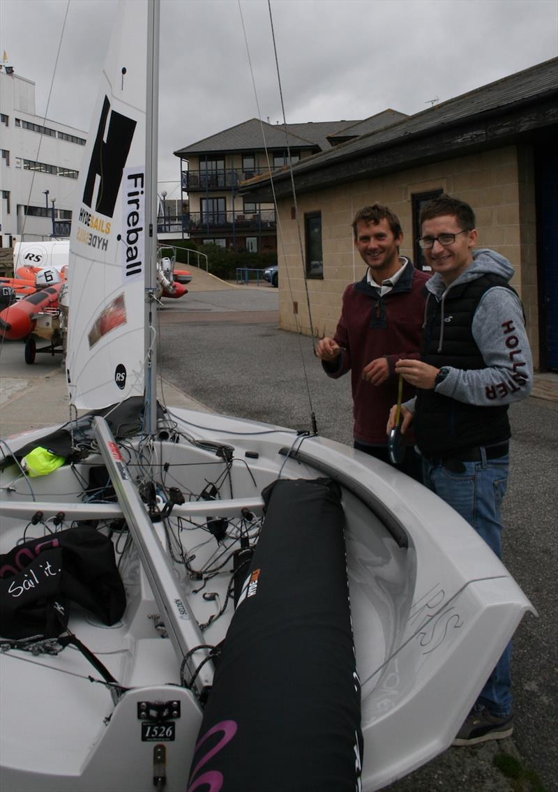Rig tuning. Matt Burge and Tom Pygall (Fireball) prepare for today's training session ahead of the 2017 Endeavour Trophy photo copyright Sue Pelling taken at Royal Corinthian Yacht Club, Burnham and featuring the RS200 class