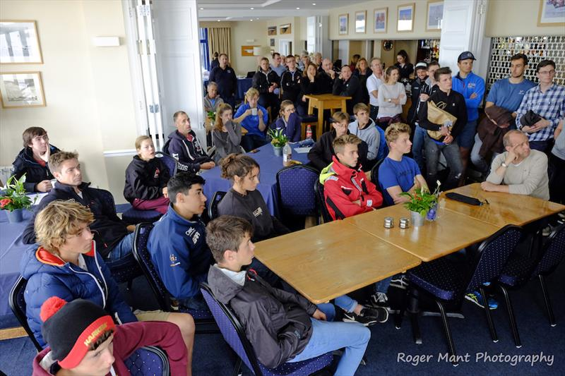 Competitors gathered for today's mid-morning briefing ahead of the 2017 Endeavour Trophy - photo © Roger Mant Photography