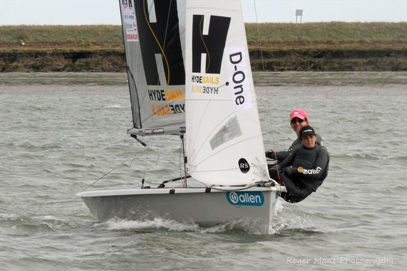 Nick Craig and Holly Scott sailed well but had to settle for second overall at the 2017 Endeavour Trophy photo copyright Roger Mant Photography taken at Royal Corinthian Yacht Club, Burnham and featuring the RS200 class