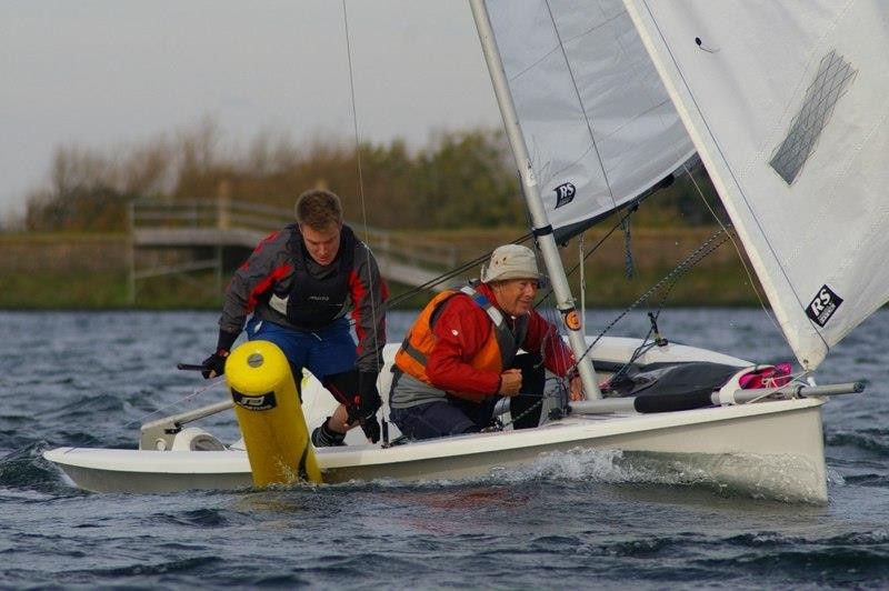 The SIs said there was no penalty for touching the mark - Blatantly demolishing the poor thing wasn't mentioned - RS200 SEAS End of Series Open Meeting at Island Barn photo copyright Jim Champ taken at Island Barn Reservoir Sailing Club and featuring the RS200 class