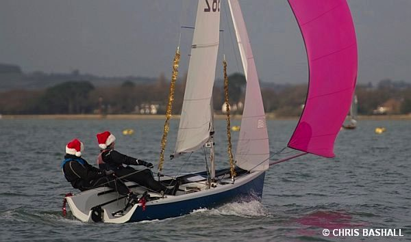 Hayling Island Christmas Cracker photo copyright Chris Bashall taken at Hayling Island Sailing Club and featuring the RS200 class