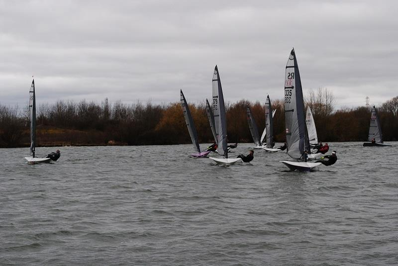 Fleet upwind during the Magic Marine RS300 Spring Championship at Stewartby Water - photo © Bill Strange