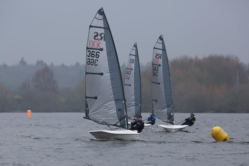 Three 300s on day 5 of the Fox's Marine & Country Alton Water Frostbite Series - photo © Tim Bees