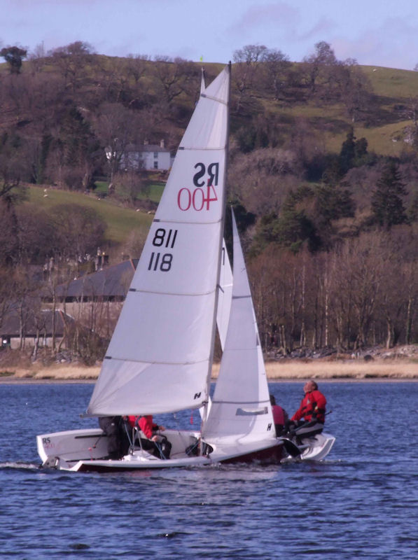 Bala Massacre 2012 photo copyright John Hunter taken at Bala Sailing Club and featuring the RS400 class
