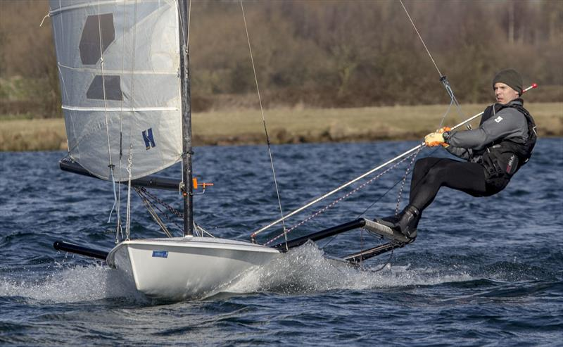 Jamie Mawson finishes 3rd in the Notts County Cooler photo copyright David Eberlin taken at Notts County Sailing Club and featuring the RS600 class