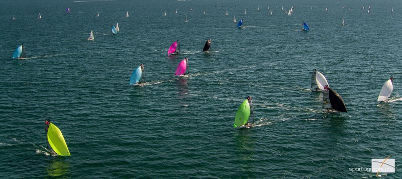 RS800 fleet sail downwind - photo © Alex & David Irwin / www.sportography.tv