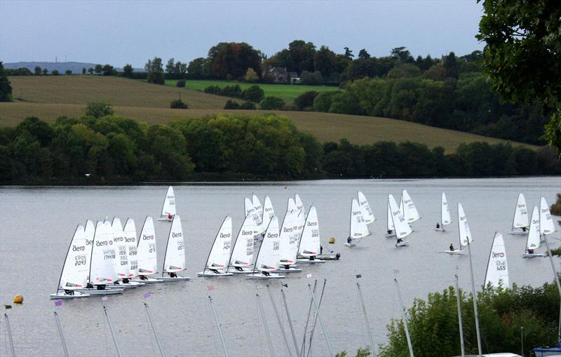 RS Aero 9 start at the Magic Marine RS Aero Inland Championships at Chelmarsh - photo © Ken Westwood