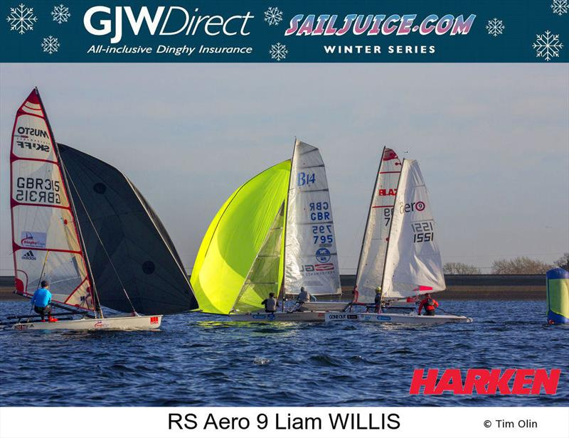 Liam Willis (RS Aero 9) during the GJW Direct Sailjuice Winter Series Datchet Flyer - photo © Tim Olin / www.olinphoto.co.uk