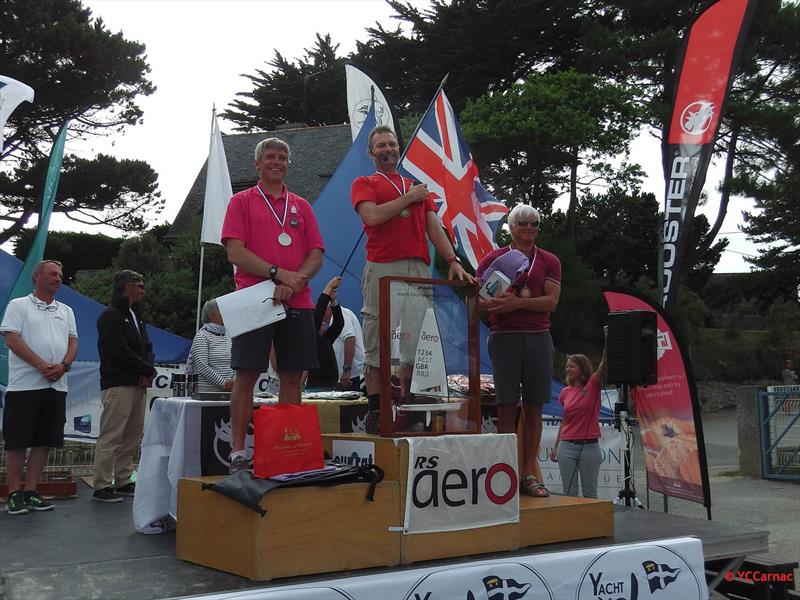 RS Aero 7 podium at the Rooster RS Aero World Championship - photo © YC Carnac