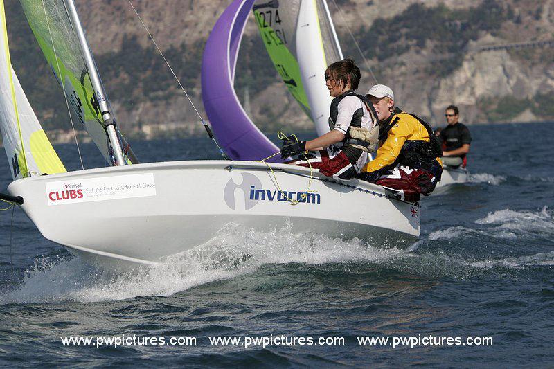 Action from the RS Feva worlds on Lake Garda