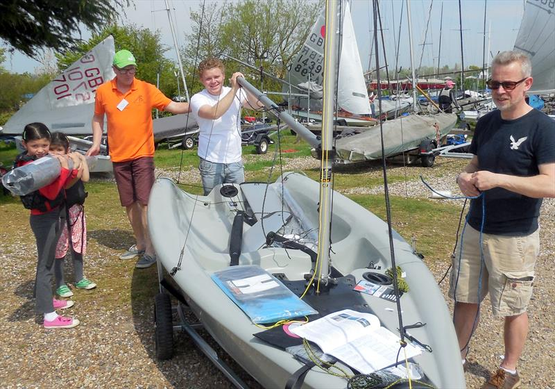 Unwrapping a brand new RS Feva at the Blackwater Open Day - photo © Christine Brown
