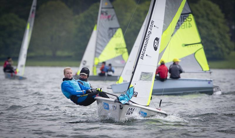 Feva pair Alice Davis and Olivia Bracey-Davis on day 2 of the RYA Eric Twiname Championships - photo © Dan Towers / onEdition / RYA