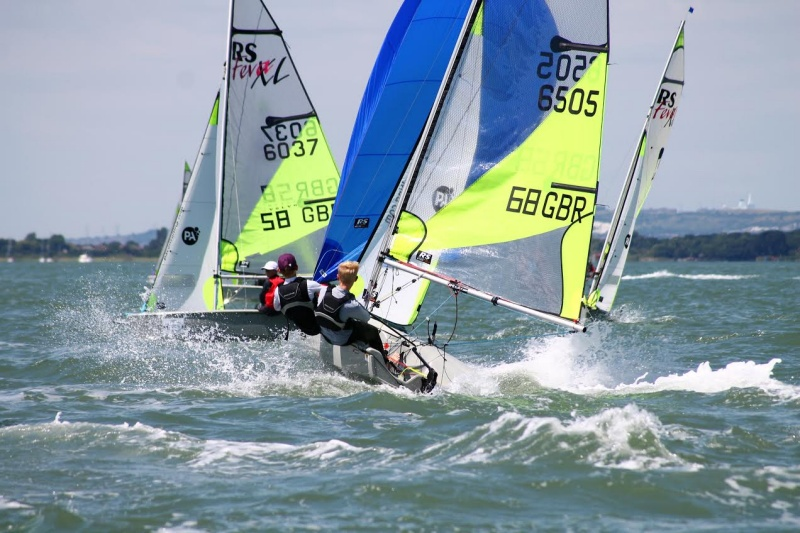 Henry and Rupert Jameson win races 1 & 2 in the RS Fevas at the Itchenor Schools Championships - photo © Jessica Marsh