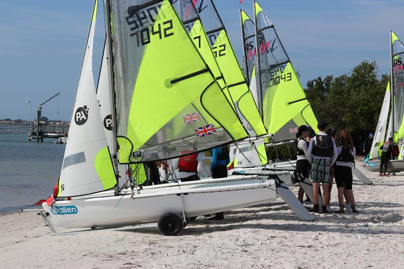 All set in Clearwater, Florida ahead of the 2018 PA Consulting RS Feva Worlds - photo © Jon Partridge