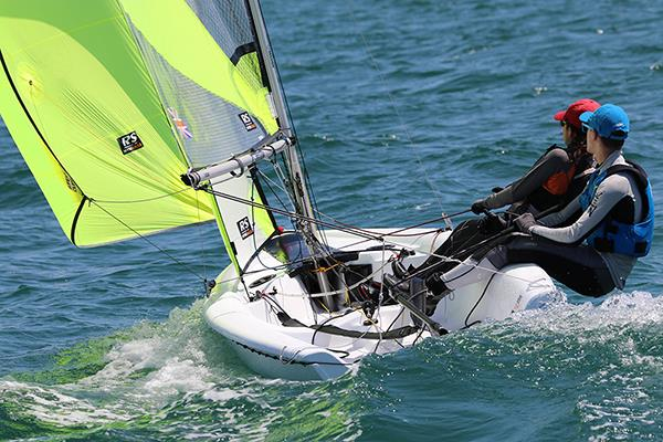 RS Feva World Championship 2018 day 2 - photo © RS Feva Class Association