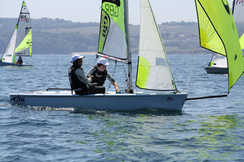Morgan Peach and Herbie Harford win the RS Feva open at Torquay