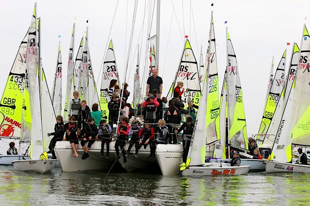 A lack of wind on Saturday for the Fevas at Thorpe Bay