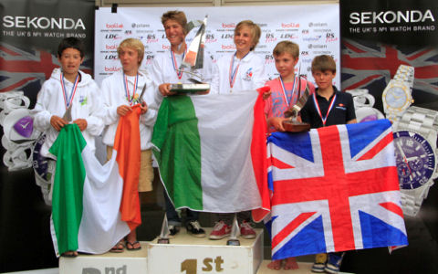 The 2012 RS Feva Worlds podium © Richard Gibbons