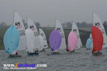 44 teams take part in the RS200 Winter Championships at Northampton