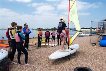 The Volvo Sailing Academy also offered 'try windsurfing and stand up paddle boarding' sessions at Queen Mary Sailing Club