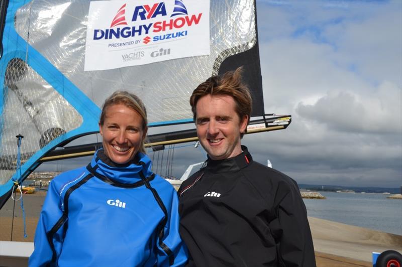 RYA Dinghy Show presenters Saskia Clark and Stevie Morrison - photo © RYA