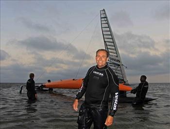 Paul Larsen and Vestas Sailrocket