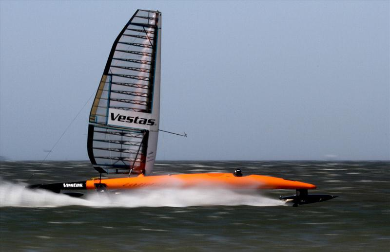 Vestas Sailrocket in action