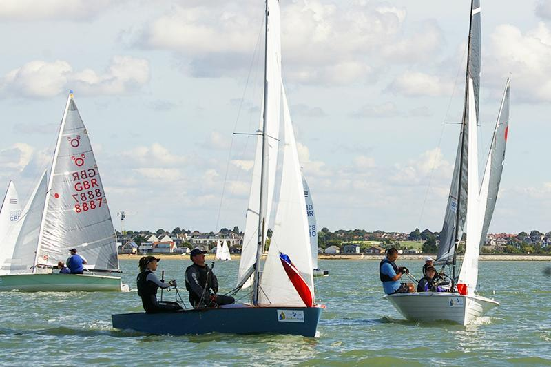 Fast Handicap Fleet on day 2 at Learning & Skills Solutions Pyefleet Week - photo © Peter Purkis