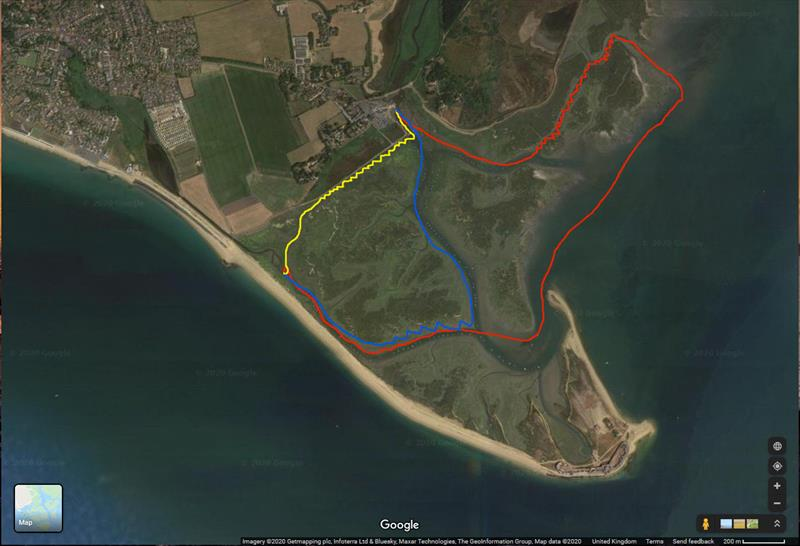 Adventure sailing course for the Keyhaven Yacht Club Commodores Cup - photo © Google Maps