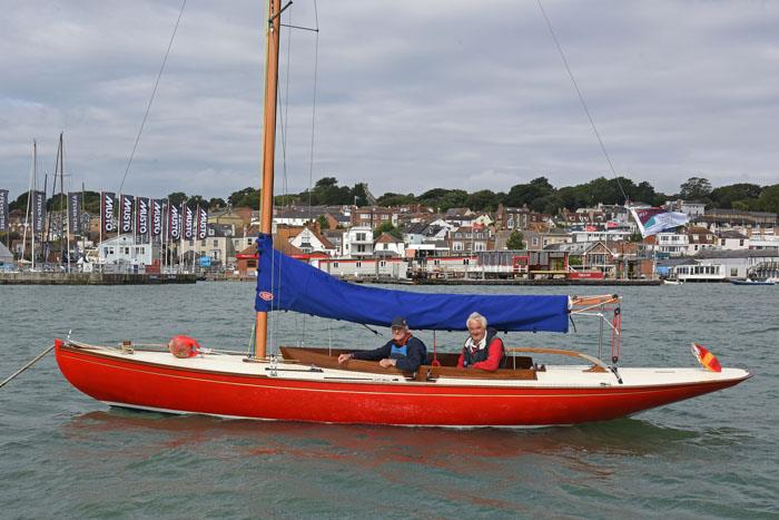1922 Seaview Mermaid Cynthia on show on her mooring before being awarded the Concours d'Elegance at Charles Stanley Direct Cowes Classics Week - photo © Rick Tomlinson / www.rick-tomlinson.com