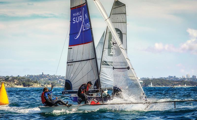 2017-18 Peroni Australia 16ft & 13ft Skiff Championships - Race 1 photo copyright Michael Chittenden taken at  and featuring the 16ft Skiff class