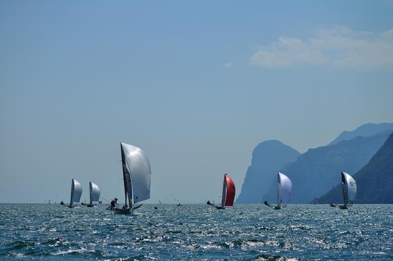 18ft Skiff Europeans on Lake Garda - photo © Martin Ruegg